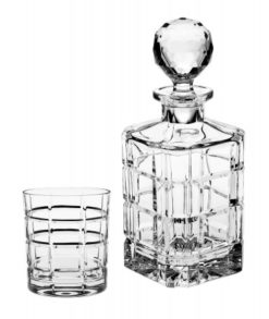 Bohemia Crystal Whisky Decanter Set