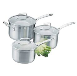 Scanpan Impace 3 piece saucepan set