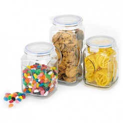 Glasslock Storage Canister 3Pce Set