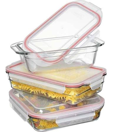 Glasslock 3 piece Bakeware Set