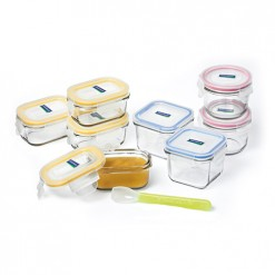 Glasslock Baby Food Storage Set 9Pce